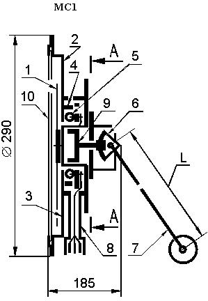 Габаритные и присоединительные размеры маслоуказателя рис.1