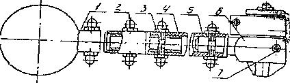 Схема рычага - маслоуказатель МС 1