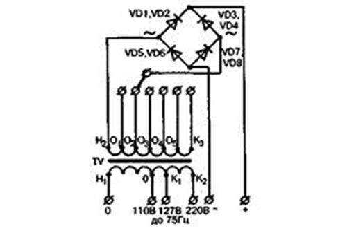схема выпрямителя ВАК-Б и