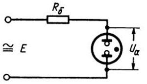 Рис.1. Схема включения индикатора (лампы) ТЛЗ-1-1