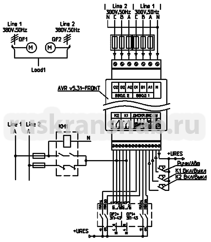 Схема авр автоматах приводами 55
