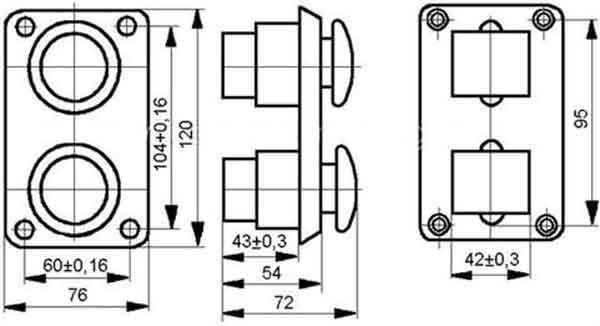Схема поста ПКЕ 112-2 - 122-2