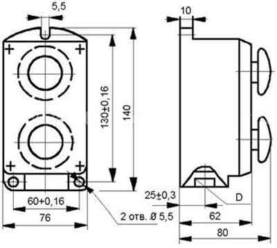 Схема поста ПКЕ 212-2 - 222-2