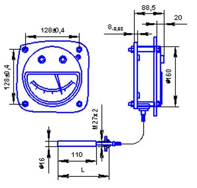 Габариты термометра