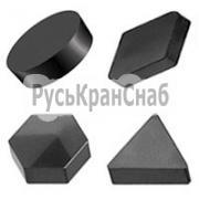 Пластина из кубического нитрида бора (ПКНБ, PCBN, эльбор) d=19,05мм h=7,96мм фото 1